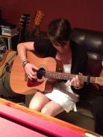 Bec on guitar